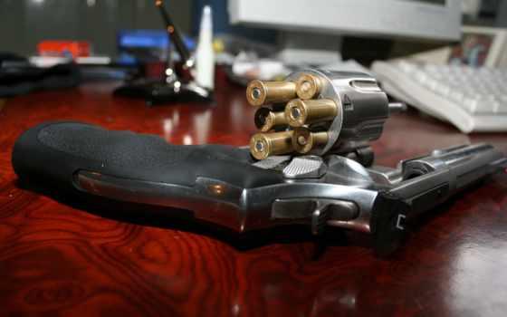 пуля, revolver, наган, оружие,, мм, патроны, барабан