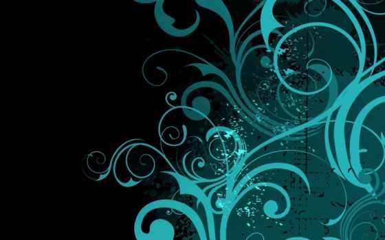 pattern, зелёный, текстура, chart, swirls, вектор, cvety