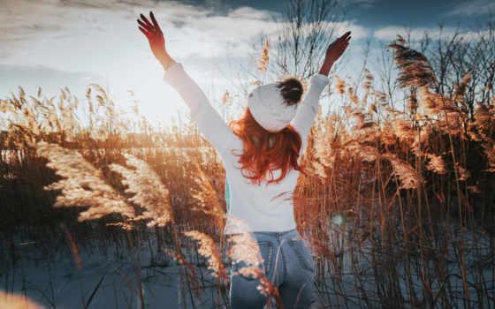 ,, people in nature, природа, отражение, небо, природный ландшафт, свет, красота, солнце, зима, радость