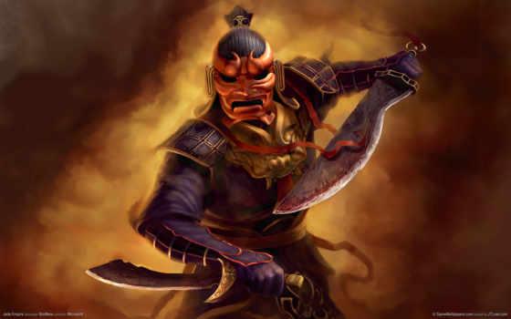 jade, empire, мечи, маска, pes, ºå, меч, пентюхов, дима, самурай, desktop, воин,