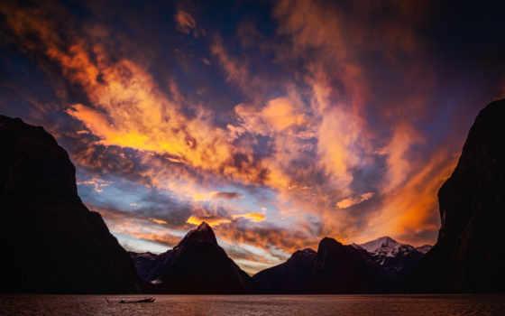 закат, небо, новая