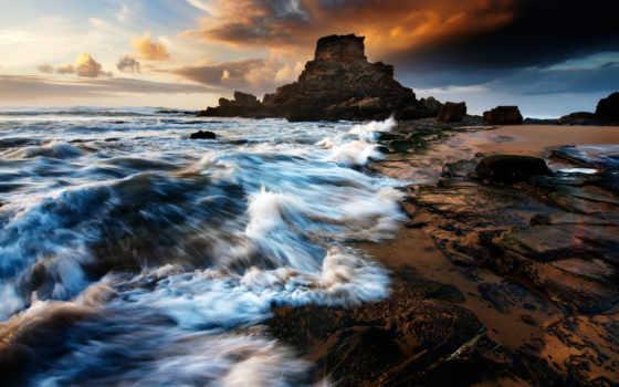 море, скалы, волны Фон № 105068 разрешение 1920x1200