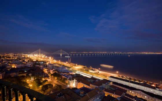 красивые, ночь, город