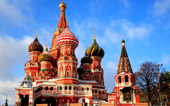 cathedral, basil, санкт, москва, russian, блаженного, василия, red, square,