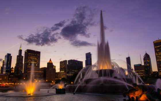 chicago, закат, город, восход, usa, песочница, страница, par,