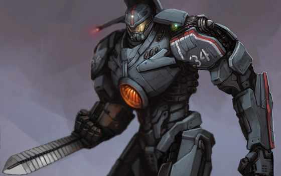 robot, fantasy, pacific, rim, киборги, роботы, машины, металл, фантастика, об,