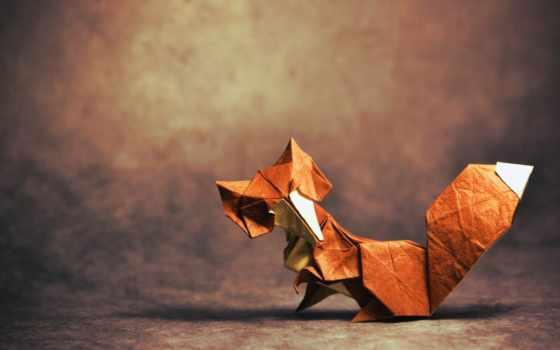 фокс, оригами, бумажная, shadow, tail, ежедневная, подборка,