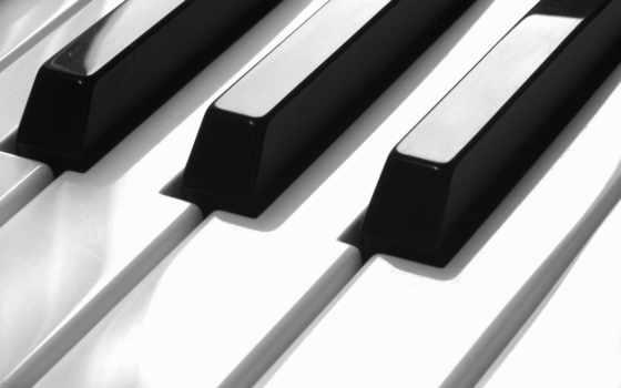 piano, музыка, клавиши, black, white,
