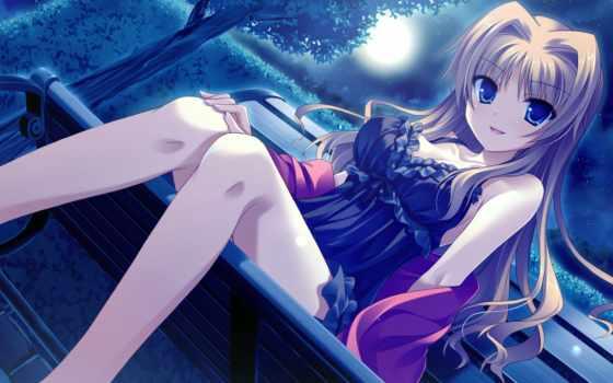 anime, ночь, cool