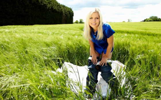 природа, девушка, трава
