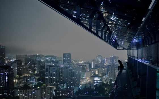 город, одиночка, ночь