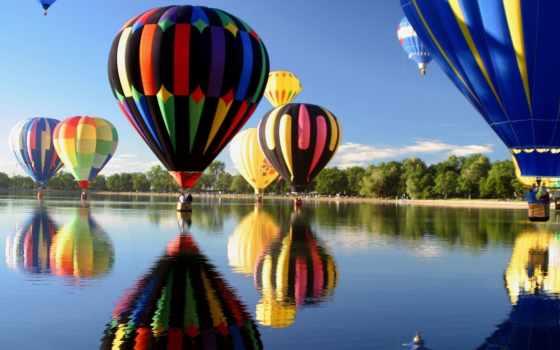 полет, воздушные, шары