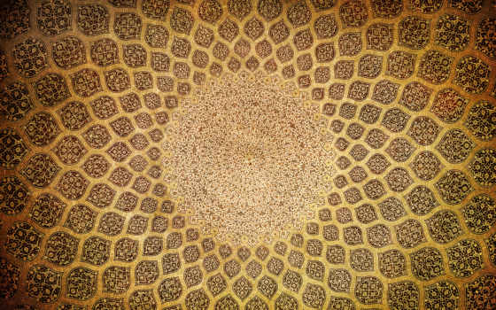 орнаменты, арабские, стоковое, востоковедные, isfahan, arabic, textures, dome, стоковые, текстуры, изображение,