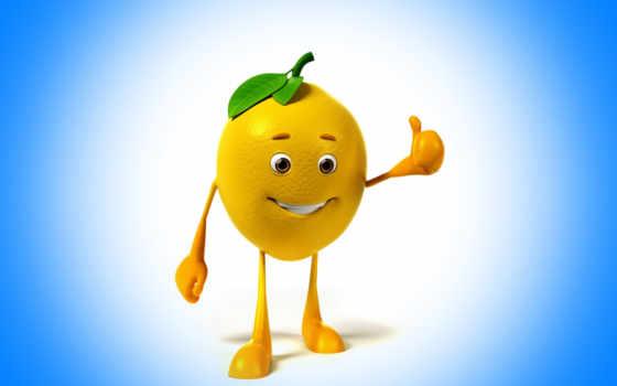 lemon, улыбка, class, blue, фон, взгляд, еда, веселые, eyes,