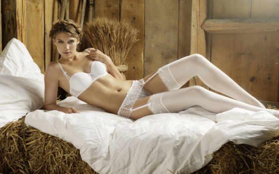кайли, eva, hot, sexy, чулки, белое белье, белье