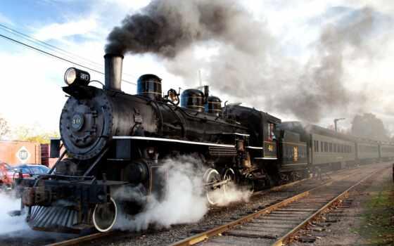 steam, поезд, локомотив, iron, дорога