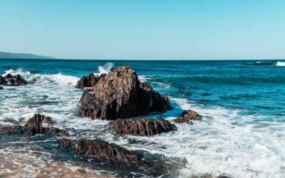 rock, волна, во, ocean, море, авиакатастрофа, дневной, пустыня, лицо