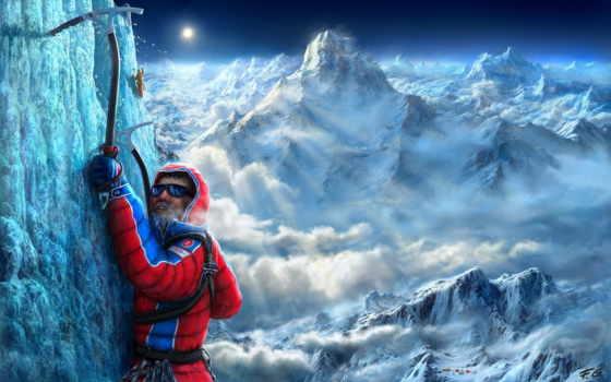 climbing, спорт, горы, предел, вертикальный, альпинисты,