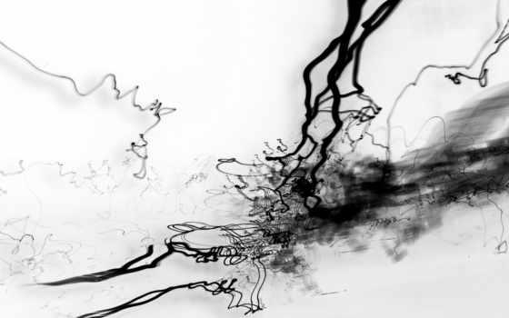 абстракция, чернила