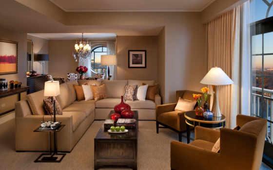 living, диван, гостиной