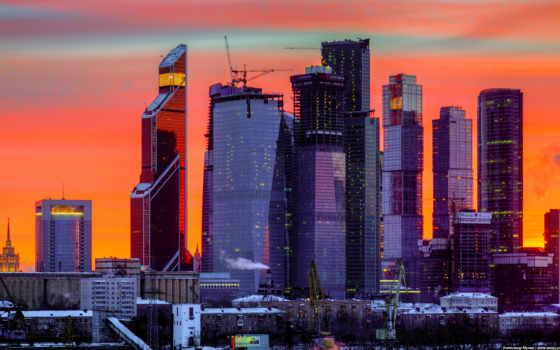 москва, город, ночь
