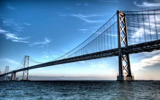 мост, bay, sana, фотообои, francisco, san, oakland, горы,