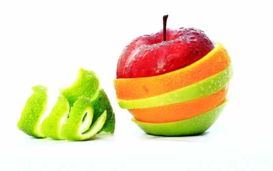 фрукты, apple, фруктов, оранжевый, кожура, white, one, juice,