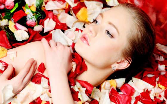 женщина, flowers, cvety, hairstyle, глаза, лицо, models,