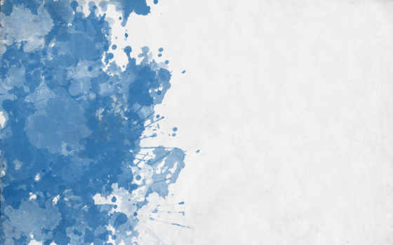 кляксы, синий