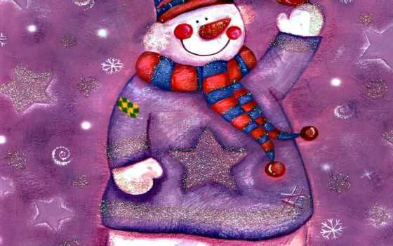 снеговик, улыбка