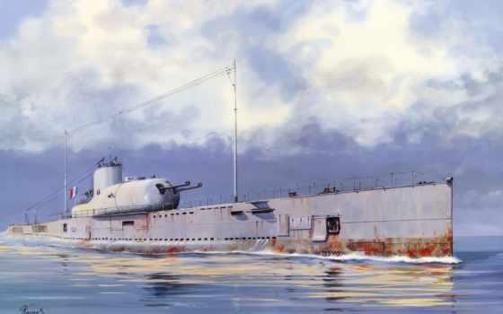 сюркуф, лодка, подводная, была, лодкой, подлодка, французская, french, surcouf, флот, пополнился,