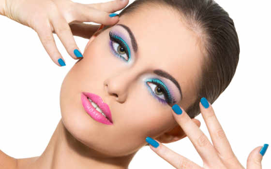 модель, макияж, ногтей