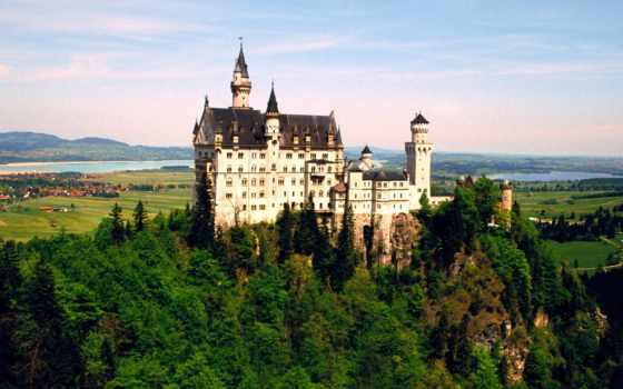 нойшванштайн, castle, германия