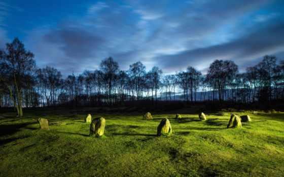 природы, луг, застывшие, мгновения, lightpainting, landscape, закат, flickr, trees, stantonmoor,