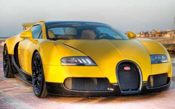 bugatti, veyron, вейрон, black, спорт, grand, roadster, yellow, издание,