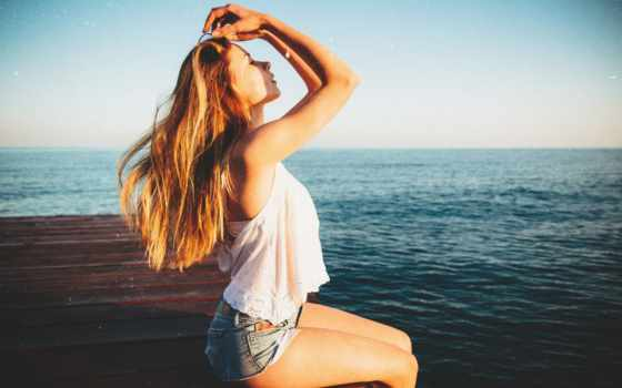 море, девушка, клипарт, растровый, firestock, пикс,