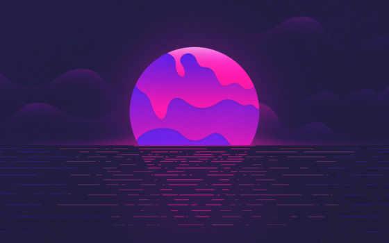 свет, пурпур, фиалка, атмосфера, небо, сфера, темнота, графика
