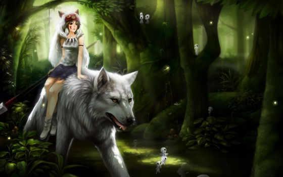mononoke, аниме, princess, фотографии, syncaidia, orijinal, фотографий, image, photo, девочка, картинку, волк,