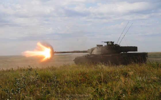 танк, леопард, высоком