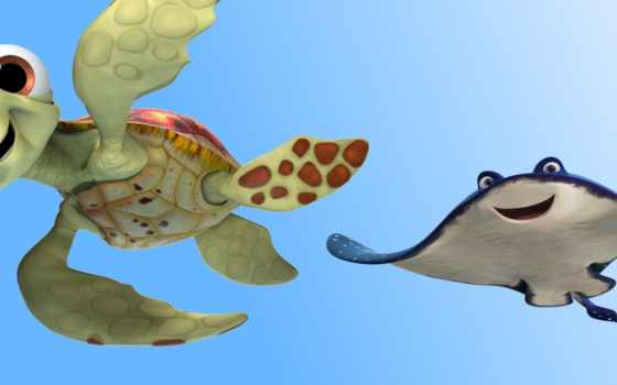 finding, dory, черепаха, немо, movies, movie, анимация, characters, pixar,
