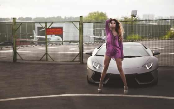lamborghini, девушка, devushki, aventador, автомобили, авто, красивые, суперкар, обстановка, сексуальные,