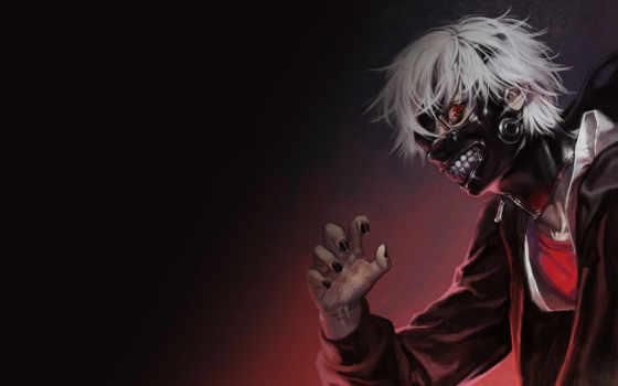 anime, tokyo, ghoul, маска, гуль, art,kaneki,