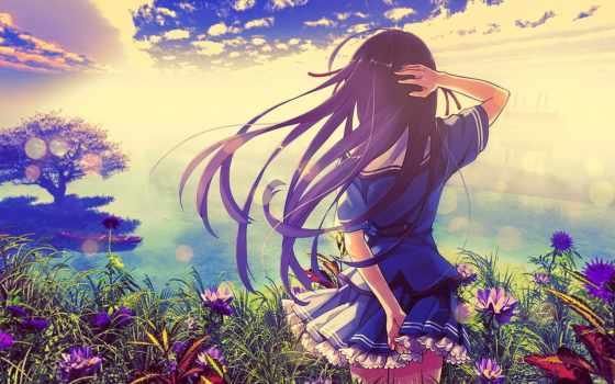 anime, девушка, edm