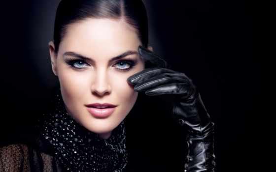 девушка, перчатки, black