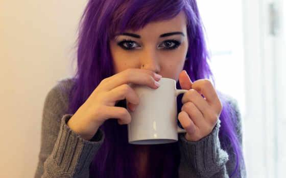 девушка, девушки, слива, фотографий, кружка, теги, волосами, фиолетовыми, фиолетовый, волосы,