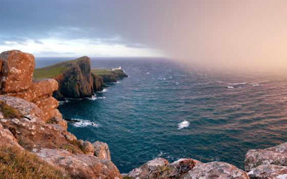 природа, шотландия, море