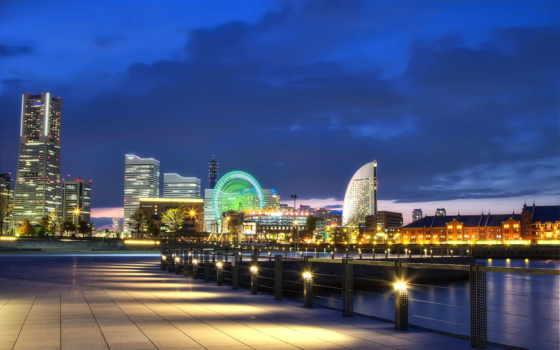 япония, порт, город
