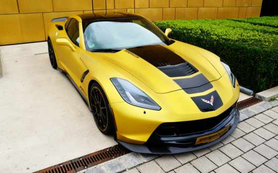 corvette, chevrolet, тюнинг, stingray, geigercars, yellow,