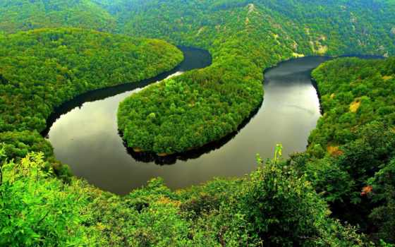 река, природа, трава, sioule, под, landscape, мира, страны, старину, ville, абстракции,