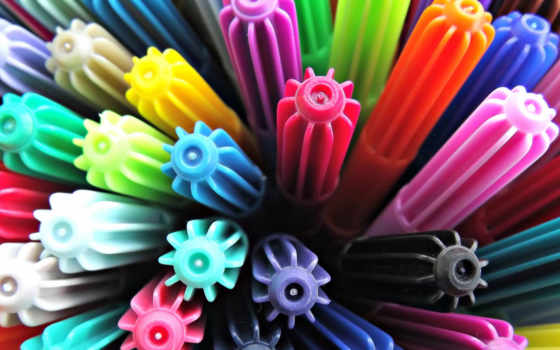 фломастеры, multicolored, колпачки, фломастерами, anime, рисунки, стакане,